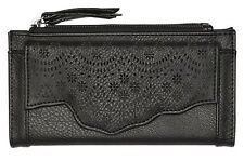 "BRAND NEW + TAGS BILLABONG LADIES GIRLS CLUTCH WALLET PURSE ""LIVE"" BLACK BNWT"