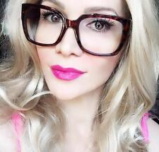 Hot Teacher Square Frames Clear Lens Big Bold Arms Geek Fashion EyeGlasses 9547