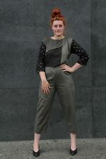 128a1e4ac9893f Miss Lagotte Damen Overall grau schwarz Gr. 42 True Vintage 90er women  jumpsuit