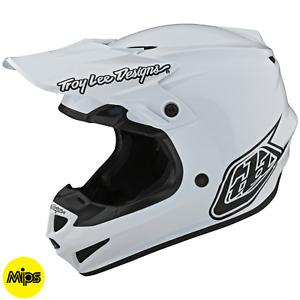 Troy Lee Designs Se4 Helmet Polyacrylite TLD Mx Motocross Dirt Bike MONO WHITE