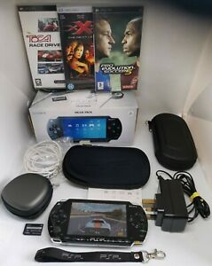 SONY PSP 1003 VALUE PACK + 3 GAMES BOXED EXCELLENT CONDITION FREE P&P Tested