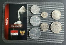 INDONESIE - INDONESIA - SET DE 7 MONNAIES D' INDONESIE DATES DIVERS.