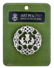 Pewter Thistle Brooch - Made In Scotland