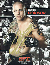 Ross PEARSON Signed Autograph UFC Fight Photo Card AFTAL COA