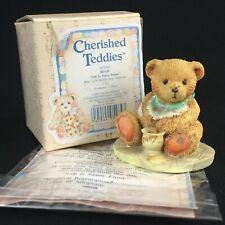 Vtg Enesco Cherished Teddies Figurine Benji Bear With Honey Bee950548 Life 1991