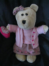Starbuck Coffee Teddy Plush Bearista Valentine Heart Bear 59th Edition 2007 doll
