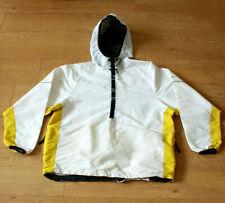 Nike Men's Retro Half Zip Hoodie Wind Cheater White Yellow Jacket Size M