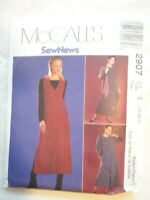 Vintage 2000 Sewing Pattern Dress or Top and Jumper Size 14-16-18