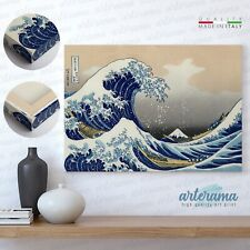 La grande onda di Kanagawa 'Hokusai' Stampa Fine Art su tela Canvas Alta Qualità