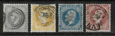 NORWAY 1856 Used Complete Set of 4 Stamps Yvert #2-5 CV €370