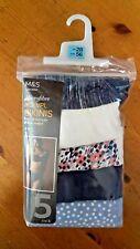 M&S MICROFIBRE NO VPL BIKINI KNICKERS x 5 SIZE 28 BRAND NEW WITH TAGS
