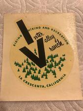 Inter Valley Ranch Water Dip Sticker La Crescenta CA Riding Hiking Recreation