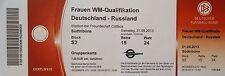 TICKET 21.9.2013 Women's Deutschland - Russland in Cottbus