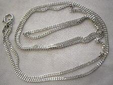 Kette aus echtem Silber 925 Sterlingsilber 42 cm 3,1 Gramm Doppelpanzerkette NEU