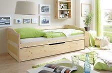 Canapé-lit Lit multifonction à tiroirs double couchage MARIANNE Naturel