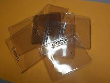 "20 Waterproof Clear ID Badge Card Plastic Pocket Holder Horizontal Pouchs 4""x3"""