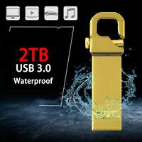 Mini 2TB USB 3.0 Flash Drive Memory Pen Stick Metal Storage U Disk for PC Laptop
