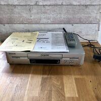 PANASONIC NV-FJ620 VCR VHS VIDEO CASSETTE RECORDER Vintage Silver Fully Working