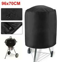 96cmx70cm Round Waterproof BBQ Cover For Barbecue Outdoor Garden Patio Protector