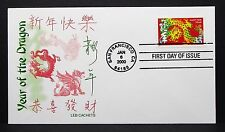 US Leb China Cachet Cover FDC Year of the Dragon Ersttag Brief (I-7363