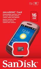 Sandisk MicroSDHC 16GB  Memory Card Mobile Phone Tablet Camera 16 Class 4 - UK