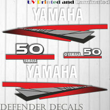 Yamaha 50 HP Two 2 Stroke outboard engine sticker decal kit reproduction 50HP
