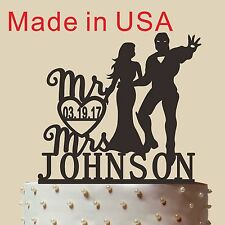 Personalized Iron Man Cake Topper,  Acrylic, Bride and groom, Made in USA 5''