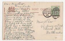 Miss Shaw, 99 Howard Road, Church Hill, Walthamstow 1906 Postcard, M016