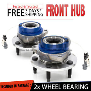 2x 513121 Front Wheel Hub Bearing Stud ABS For [FWD] 2005 BUICK TERRAZA {Pair}