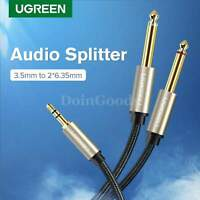 Ugreen 3.5mm To 6.35mm Jack Cable Plug Adapter For Amplifier Mixer Y Splitter Tv