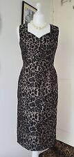 BOOHOO BOUTIQUE leopard print wiggle pencil retro dress sexy back size 8