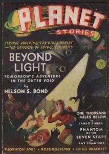 Planet Stories 1940 Winter, #5. Stories by Leigh Brackett, Ray Cummings  Pulp