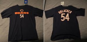 Reebok NFL Chicago Bears Brian Urlacher T-shirt Tee #54 Men's Size M Medium NEW