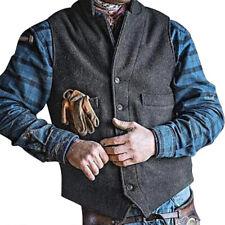 Mens Slim Fit Wool Waistcoat Plain Winter Vest Tops Casual Formal Wedding Jacket