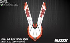 KTM SX SXF 2013-2015 Guardabarros Delantero Decal Sticker Motocross Fender gráficos Exc 14