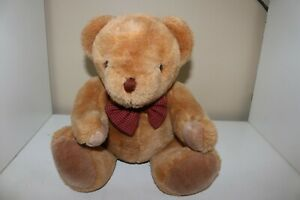 Teddy Bear VTG jointed head moves bowtie clean good condition