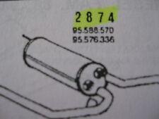 Marmitta centrale Citroen BX art. 2874
