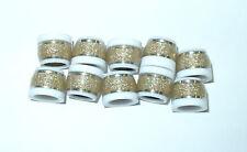 Golf Ferrules .370 IRONS Sandy/Spkle Gold over WHITE