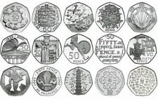 Rare & Valuable UK 50p Pence Coins Circulated Beatrix Potter , Olympics.