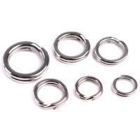 Qu_ 100Pcs Stainless Steel Double Loop Keyring Split Key Rings Fishing Tool Sanw