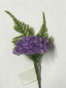 Lilac Silk Carnation Artificial Buttonhole Wedding Flowers Groom Bestman Guests