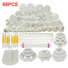 Cake Decorating 68pcs Fondant Sugarcraft Icing Plunger Cutters Tools Mold Mould