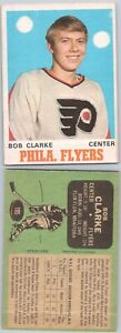 VINTAGE HOCKEY CARD  OPC 1970 PHILADELPHIA FLYER BOBBY CLARKE ROOKIE NO100