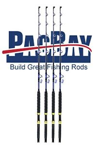 Xcaliber Marine Set (4) Tournament Series 30-80lb Trolling Rod RED AND GOLD