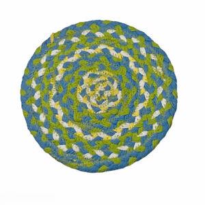 "Sarasota Blue Green Yellow 8"" Braided Cotton Trivet by Park Designs"