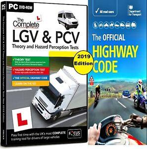 HGV LGV PCV DVSA THEORY TEST & HAZARD PERCEPTION, PC DVD ROM.2021 & HW Code Book