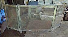 Ancienne Grille de Cheminée feu poêle Triptyque Acier 119 x 53 cm Vintage 1960