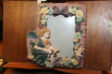 4x5 Poly-Resin Cold Cast Ceramic Picture Photo Frame Roses Ornate Angel Cherub