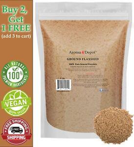 1 lb. GROUND Brown Flax Seed Omega-3 Non-GMO Linaza Raw 16oz Flaxseed POWDER