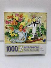 """BITS AND PIECES 1000 Piece Puzzle Tulip Bouquet 20"""" X 27"""" Complete"""